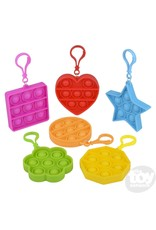 """The Toy Network Bubble Popper Keychain 2.75"""""""