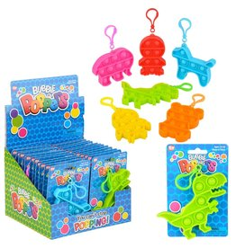 """The Toy Network Animal Bubble Popper Clip On 3.5"""""""