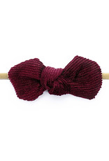 Baby Wisp Baby Wisp Headband Corduroy Knot, Burgundy