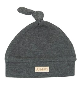 Juddlies Juddlies Newborn Hat, Charcoal Grey Fleck 0-4m