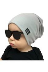 Babyfied Apparel Beanie Hat Light Grey, 6-36m