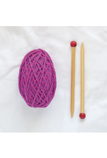 Friendly Loom Discover Knitting: Scarf Kit, Pink/Violet