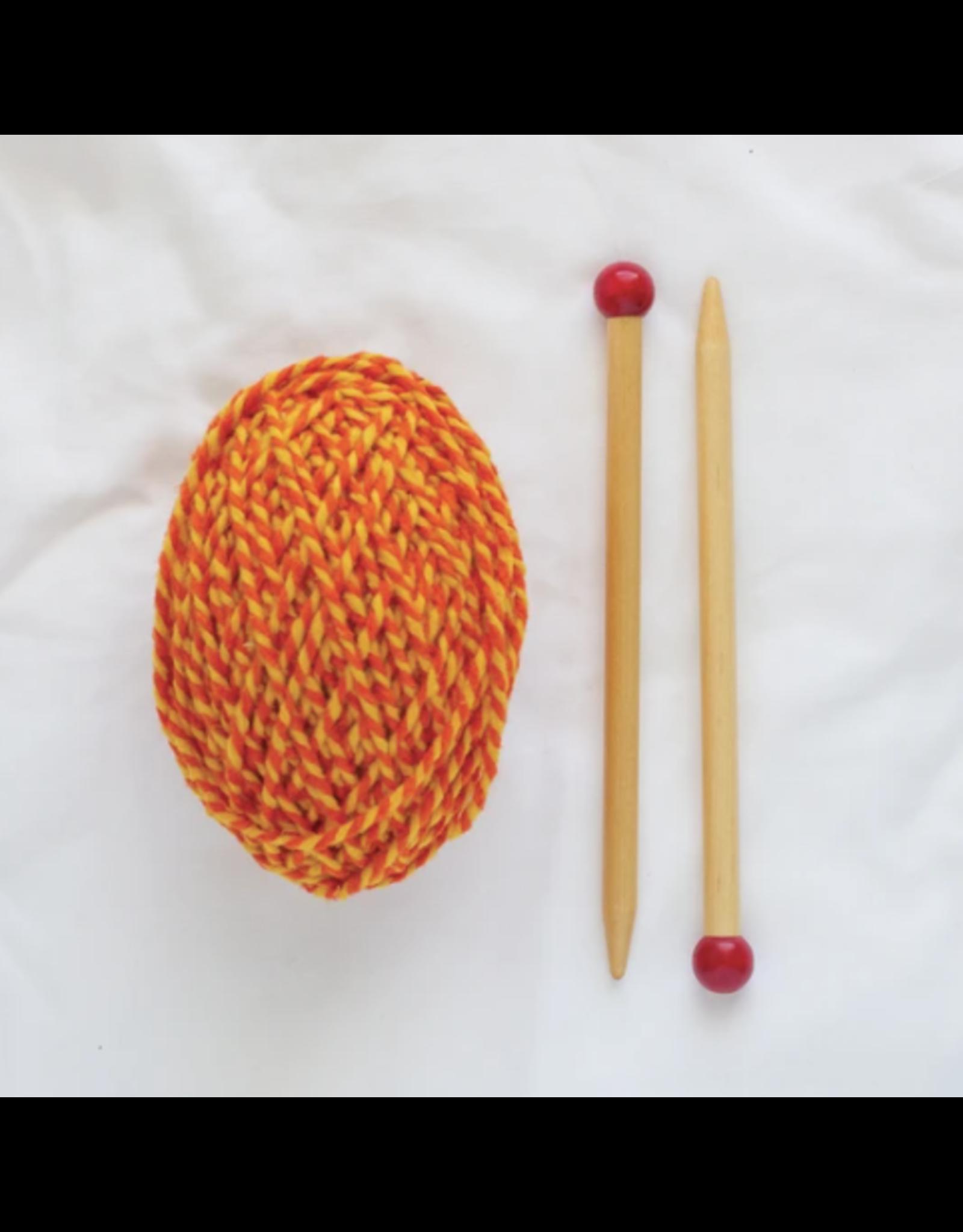 Friendly Loom Discover Knitting: Scarf Kit, Yellow/Pumpkin