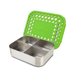 LunchBots LunchBots Medium Quad, Green Dots