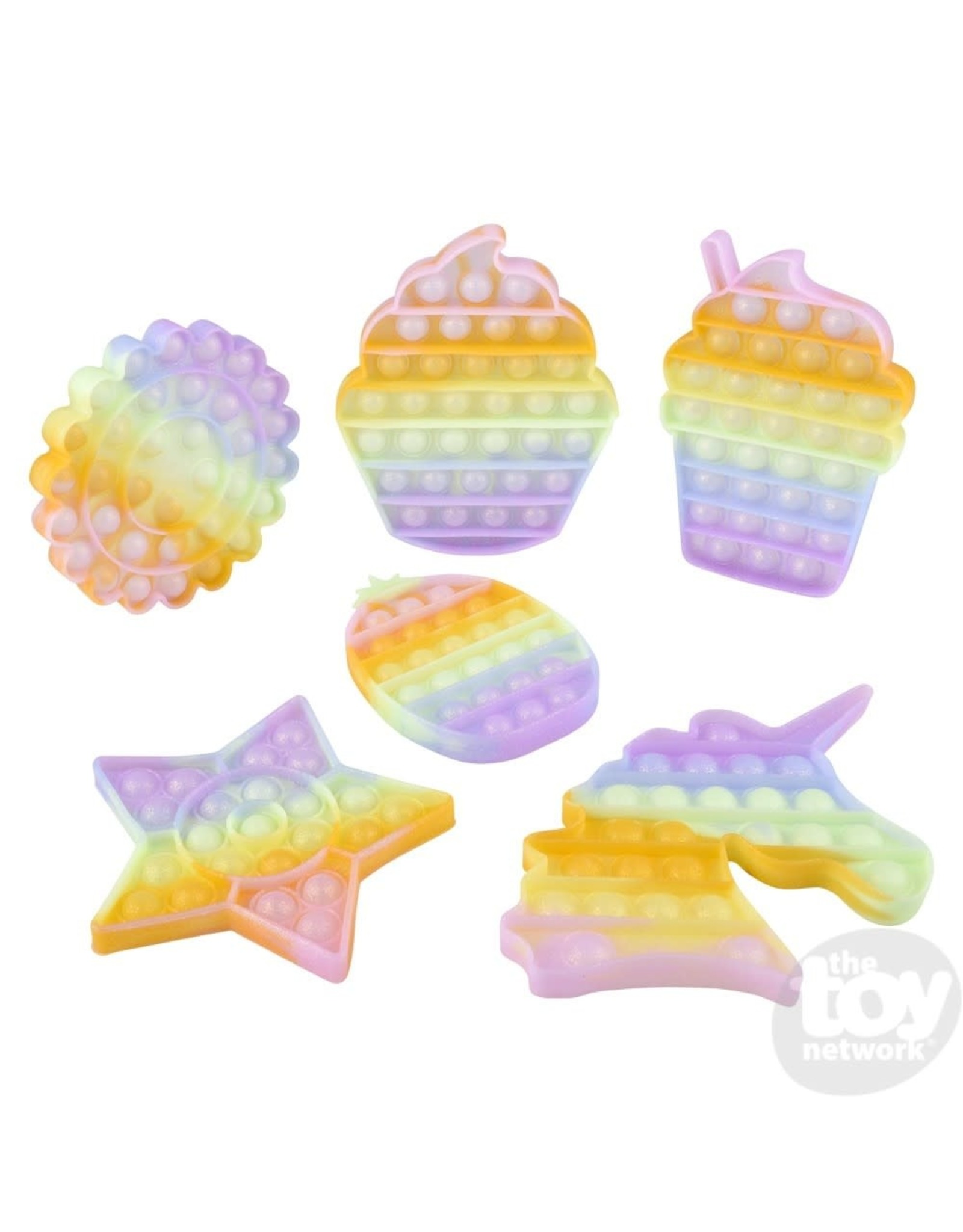 The Toy Network Glitter Bubble Poppers, Assorted Shapes