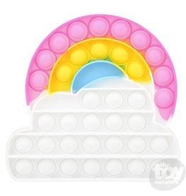 """The Toy Network Bubble Popper, Rainbow Cloud 6.5"""""""