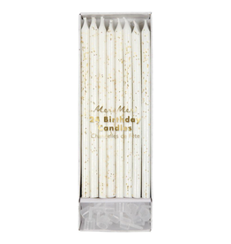 Meri Meri 24 Gold Glitter Birthday Candles