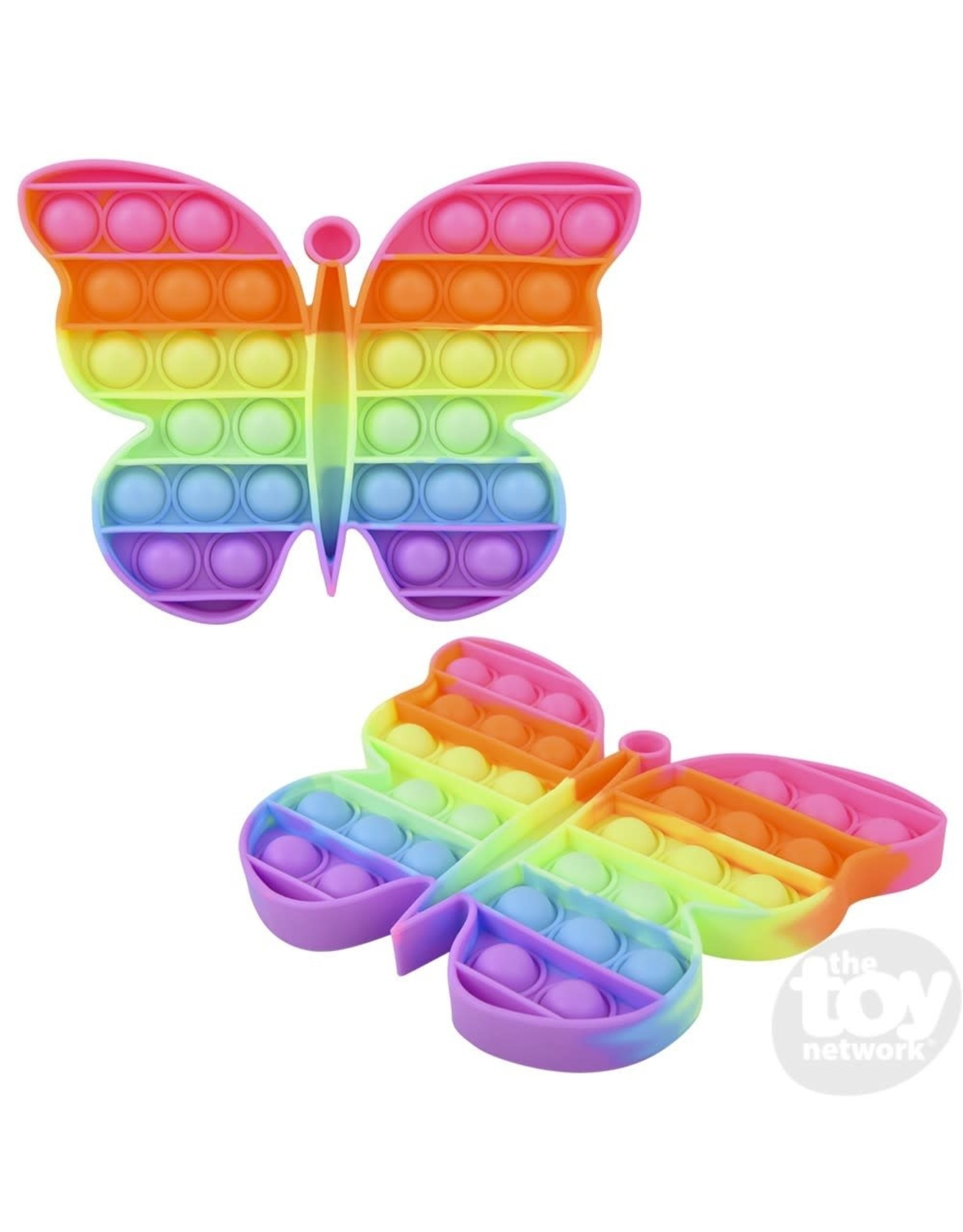 "The Toy Network 6.5"" Neon Butterfly Bubble Popper"