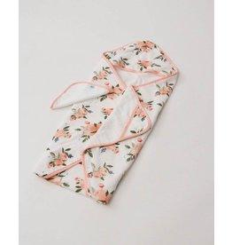 Little Unicorn, LLC Cotton Hooded Towel & Wash Cloth, Watercolour Roses