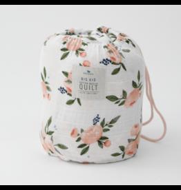 Little Unicorn, LLC Cotton Muslin Big Kid Quilt, Watercolor Roses