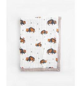 Little Unicorn, LLC Cotton Muslin Baby Blanket, Bison