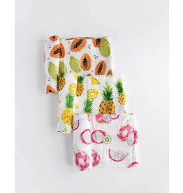 Little Unicorn, LLC Cotton Muslin Swaddle 3 Pk, Tropical Fruit