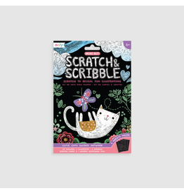 Ooly Mini Scratch & Scribble Art Kit Cutie Cats