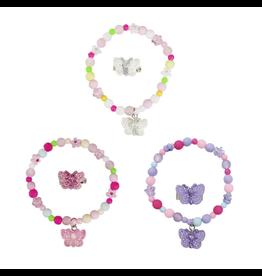 Great Pretenders Sparkle Butterfly  Bracelet & Ring Set Assorted