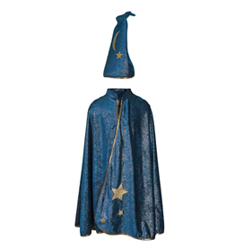 Great Pretenders Starry Night Cape with Hat, Turquoise, 7-8