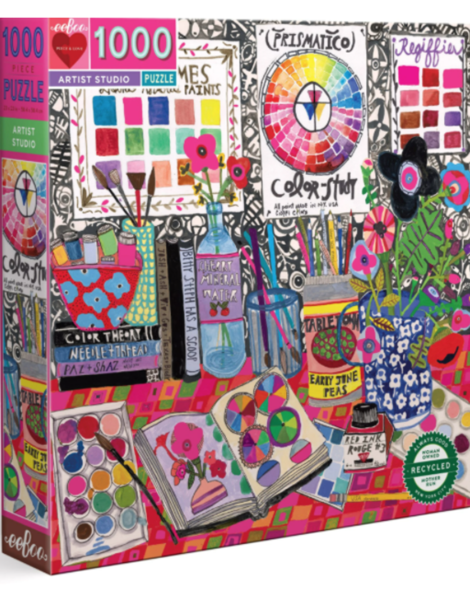 Eeboo 1000 pcs Artist Studio Puzzle