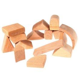 Grimm's Spiel & Holz Design Blocks Natural in Net Bag