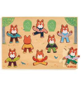 Djeco Wooden Puzzle, Foxymatch 8 pcs.