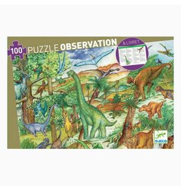 Djeco 100 pcs. Obersvation Puzzle, Dinosaurs