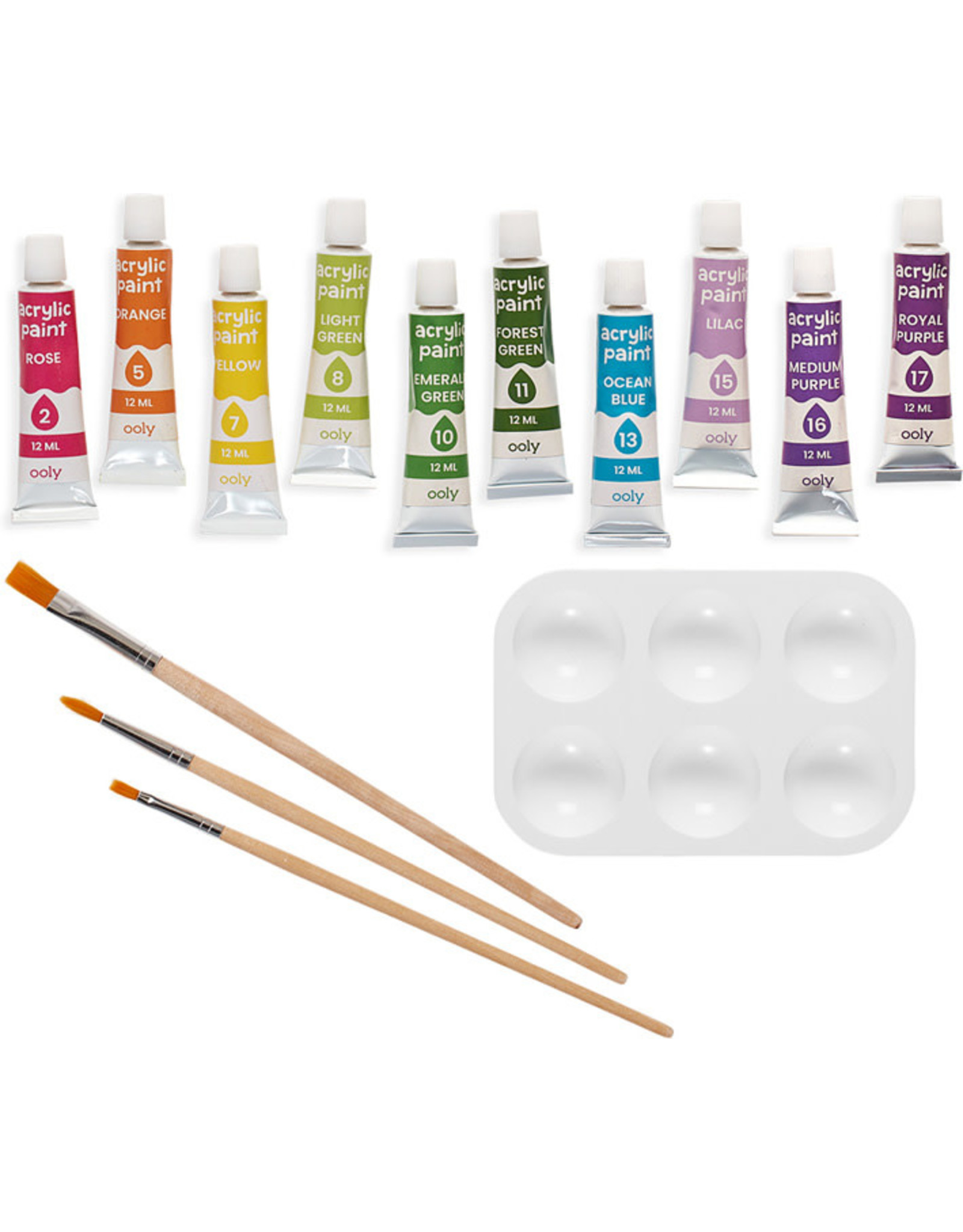 Ooly Colourific Canvas Kit Paint By Number, Happy Sloth