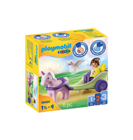 Playmobil 1.2.3 Unicorn Carriage with Fairy