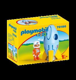 Playmobil 1.2.3 Astronaut with Rocket