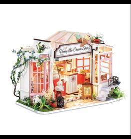Hands Craft DIY Miniature Dollhouse Kit, Honey Ice-Cream Shop