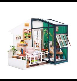 Hands Craft DIY Miniature Dollhouse Kit, Balcony Daydreaming