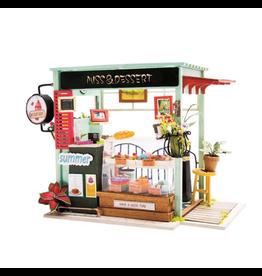 Hands Craft DIY Miniature Dollhouse Kit, Ice Cream Station