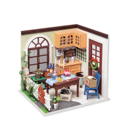Hands Craft DIY Miniature Dollhouse Kit, Charlie's Dining Room
