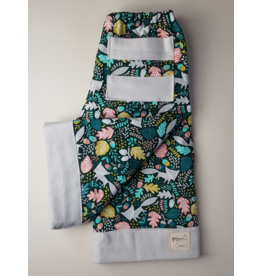 Georgi Pearson Quilty Pants, Green Oak Leaf with Foxes