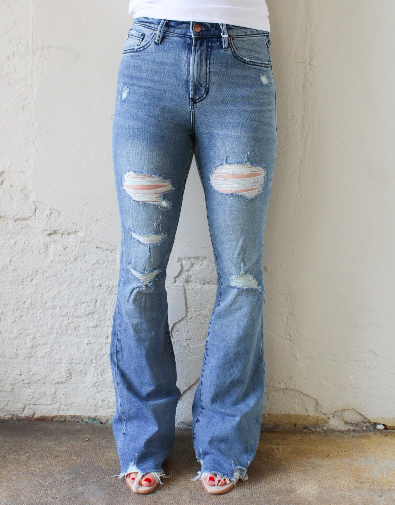 Dear John Denim Aubrey High-Rise Flare