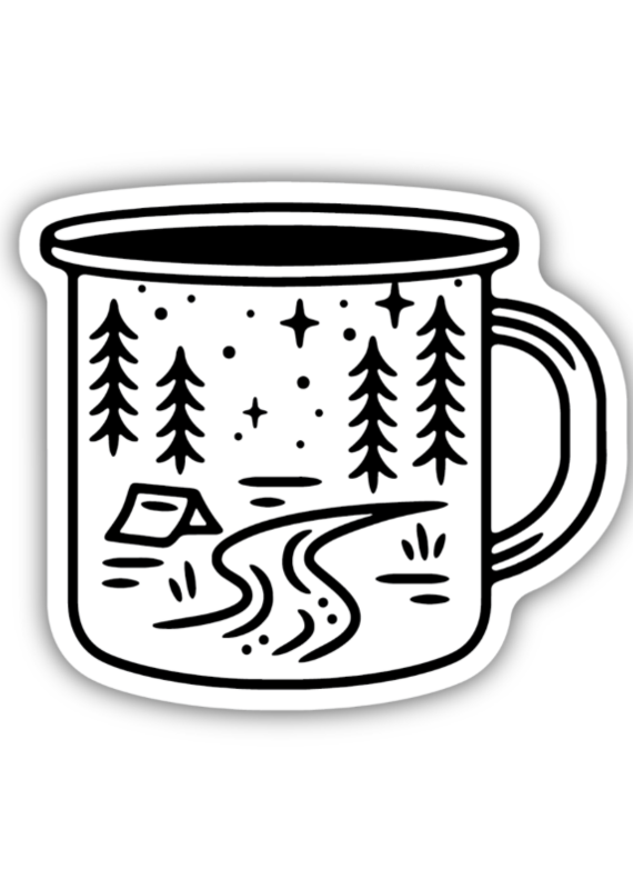 Stickers Northwest SNW-Camp Mug Scene, Sticker