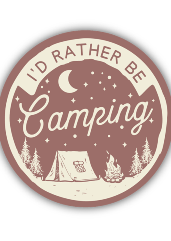 Stickers Northwest SNW-I'd Rather be Camping Sticker