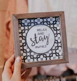 Collins Painting Relax Pattern Sign