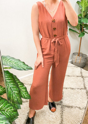 Dex Clothing Button Down Jumpsuit