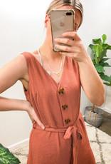 Dex Clothing Button Down Jumpsuit