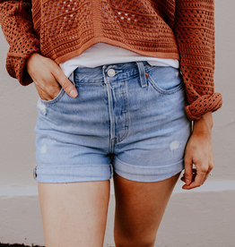 Levi Strauss & Co Levi 501 Rolled Shorts