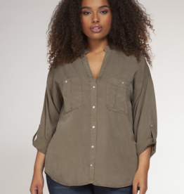 Dex Clothing Plus Button Down Top