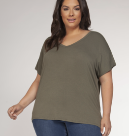 Dex Clothing Plus Drape Back Tee