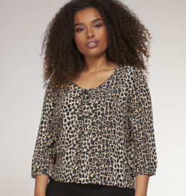 Dex Clothing Plus Leopard Top