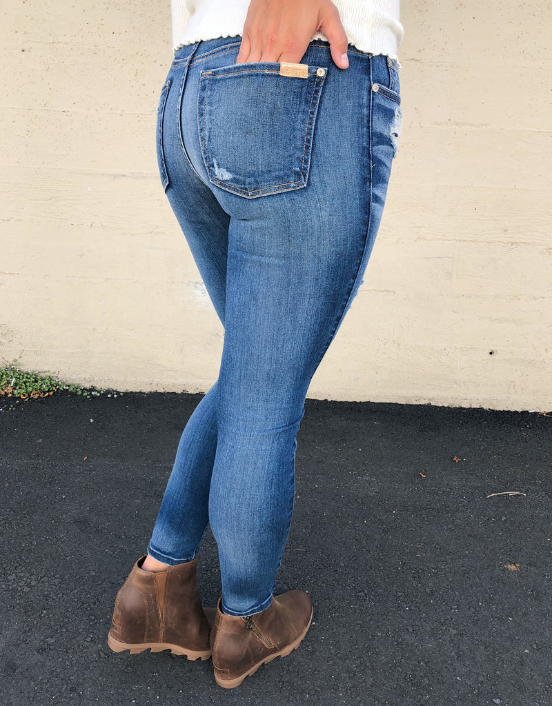 7 For All Mankind Mid-Rise Ankle Skinny