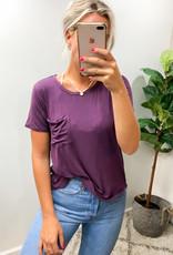 Sam Orchid Pocket Top