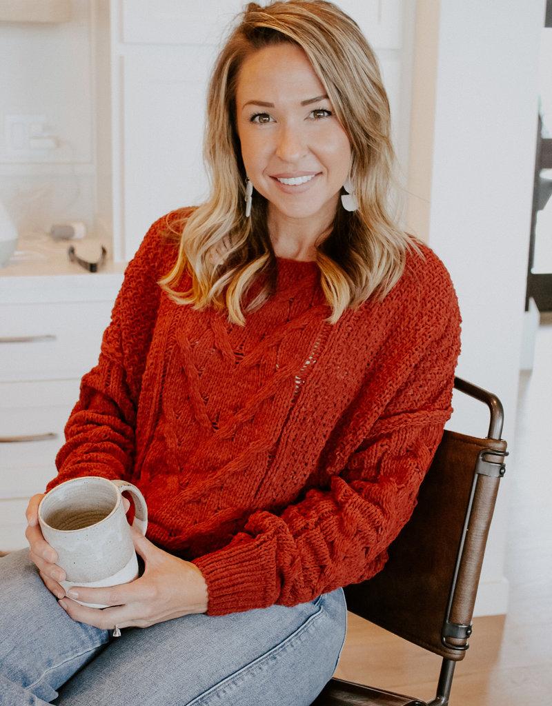 Wild Heart Auburn Cropped Sweater