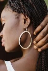 Horn Hoop Earrings