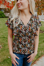 Dex Clothing Fawn Floral Blouse