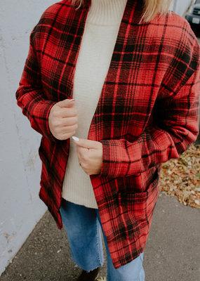 Tentree Flannel Cocoon Cardigan