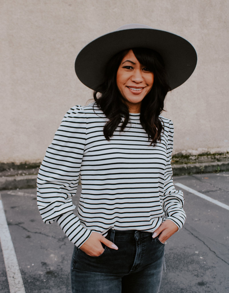 ZSupply Clemente Striped Puff Sleeve Top