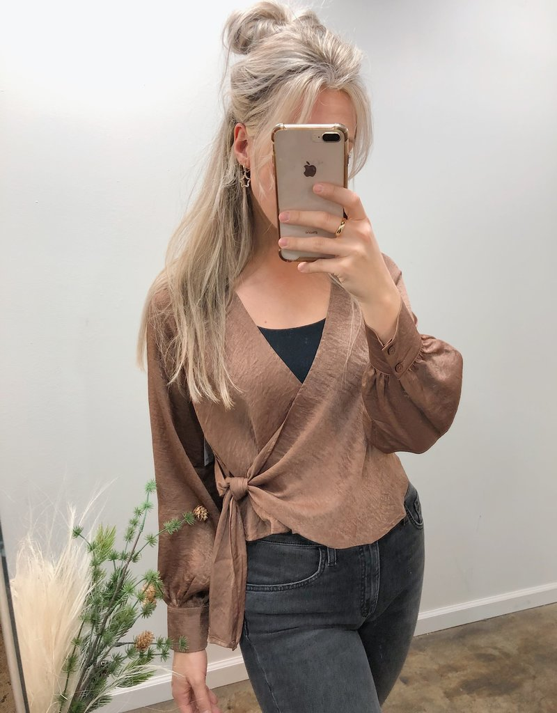 Adley Wrap Top