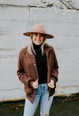 Mystree Cocoa Faux Fur Jacket